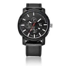 Los Hombres de lujo Gran Dial V6 Súper Velocidad de reloj Deportivo de Cuarzo de Acero de Silicona Banda Reloj de pulsera