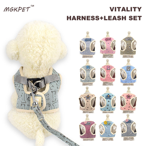 Cat Harness with Leash Set Pet Walking Dog Vest Harness Adjustable Soft Mesh For Kitten Puppy Small Dogs Chihuahua Yorkie S M L