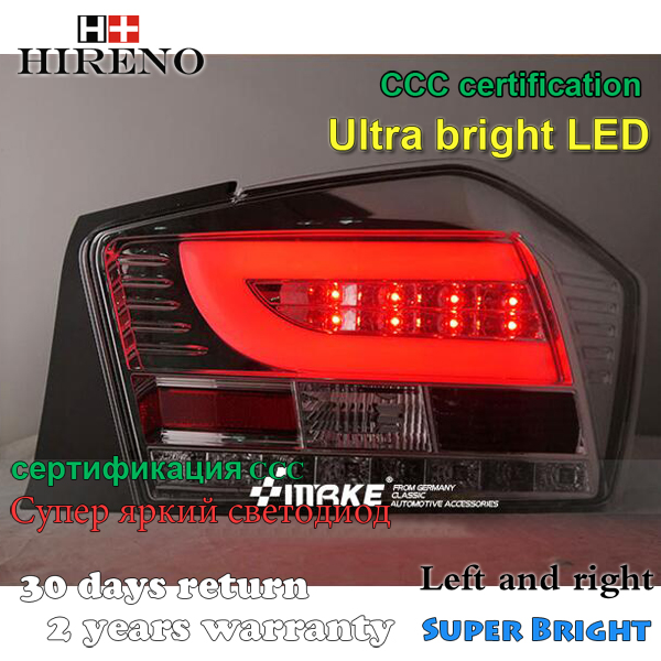 Hireno Tail Lamp for Honda City 2009 2010 2011 LED Taillight Rear Lamp Parking Brake Turn Signal Lights