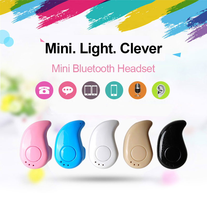 Mini Portable Bluetooth Earphone Headphones Wireless Bluetooth Headset Stereo with Mic Handsfree Earphone Universal for iPhone high quality 2016 universal wireless bluetooth headset handsfree earphone for iphone samsung jun22