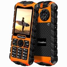Huadoo IP68 impermeable teléfono móvil FM linterna antorcha natación apoyo a prueba de choques resistente al aire libre teléfono P191