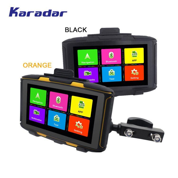 KARADAR 1 IPX6 motor car navegação gps À Prova D' Água G RAM bluetooth4.0 WIFI IPS 854*480 da tela Android 4.4.3 carregado google APP