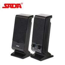 SADA V-112 Portable Stereo Bass USB Combination Computer Speaker PC USB Speakers Mini Subwoofer for Smartphone Laptop Notebook