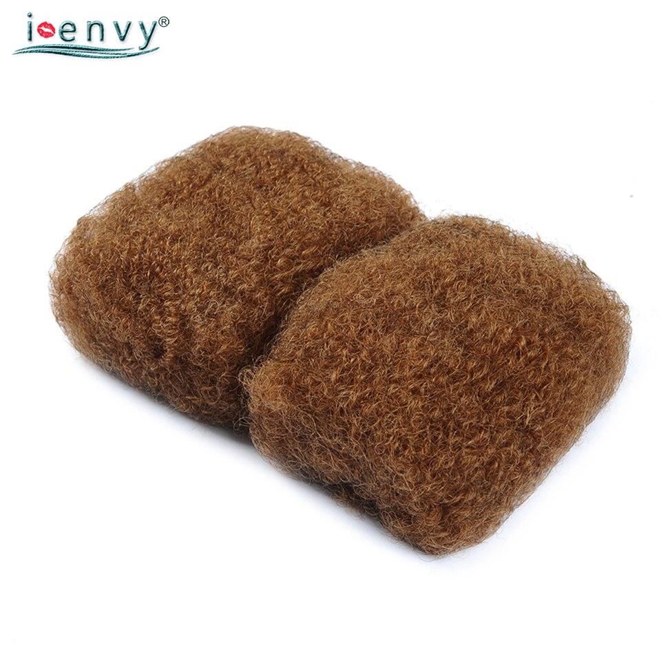 IEnvy or blond Afro cheveux bouclés humains pour tresser brésilien couleur 30 pas de trame tressage cheveux en vrac Noremy 50G Extension de cheveux
