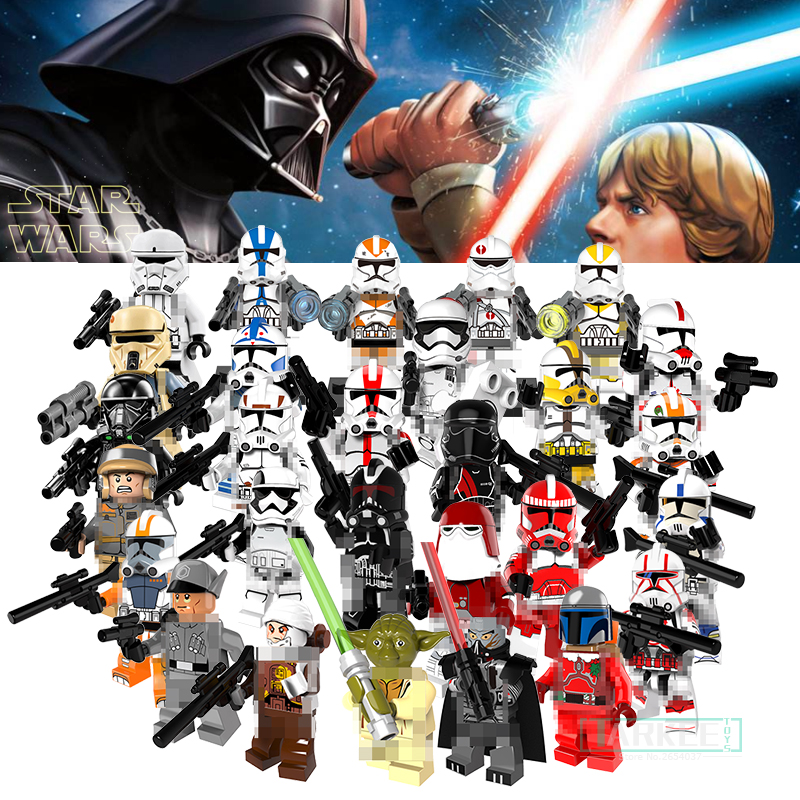 1PC Clone Trooper Soldiers Building font b Toys b font Bricks Stormtrooper Commander Model Star Wars