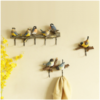 Wall Mounted Coat Rack | Birds On tree Branch Hanger with 4 Hooks | For Coats, Hats, Keys, Towels, Clothes Storage Hanger
