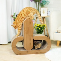 Domestic Delivery Cat Scratcher Board 2 in 1 Design Multi functional Cat Kitten Play Sleeping Cat Furniture With Catnip Cat Toy