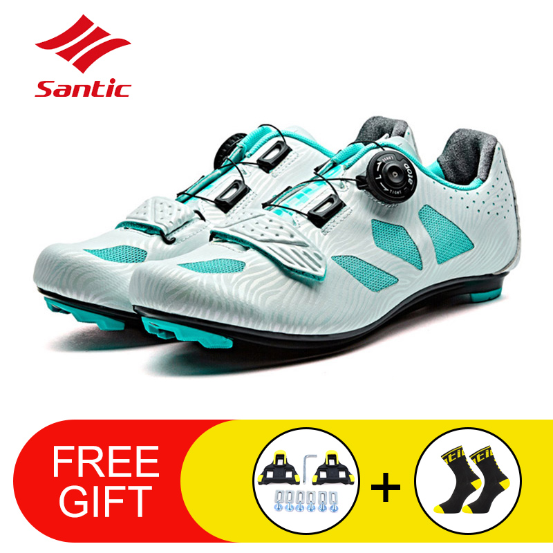 Women Lace-up Bicycle Shoes Lady Non-slip MTB Bike Sneakers Athletic Racing Cycling Shoes Riding Sports Breathable Shoes SANTICWomen Lace-up Bicycle Shoes Lady Non-slip MTB Bike Sneakers Athletic Racing Cycling Shoes Riding Sports Breathable Shoes SANTIC