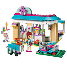 BELA 10537 Vet Clinic Model Pet Hospital Building Blocks Set DIY Girls Toys Compatible Friends figures 41085 все цены