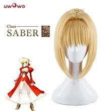 Parrucca Cosplay UWOWO Nero Claudius Fate Maid Ver Hair Women 35cm Golden Heat resistente Girls sabre Hair