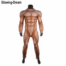 Di Alta Qualità in Rilievo Più Grande Muscolo Imbottitura Muscolo di Base Del Vestito Vestito Del Corpo per Cosplay su Misura Qualsiasi Colore Della Pelle Costume Muscolare