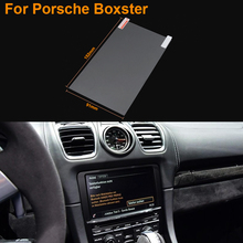 Car Styling 7 Inch GPS Navigation Screen Steel Protective Film For Porsche Boxster Control of LCD Screen Car Sticker