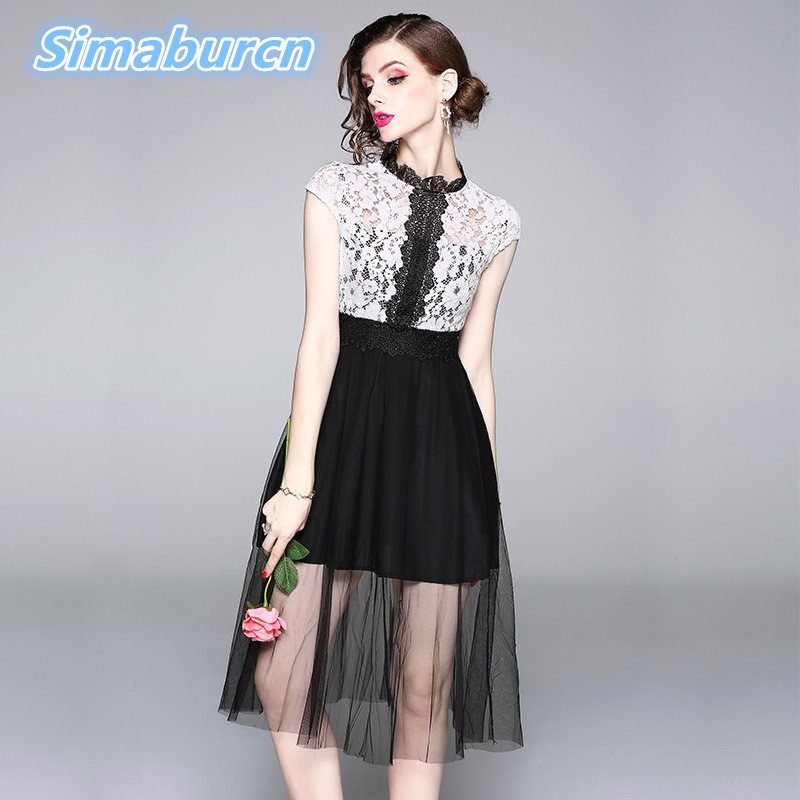 Women Summer Sexy O Neck White Pink Dress Female Short Sleeve Femme Hollow Out Dresses Robe Evening Party Spring Apricot Clothes