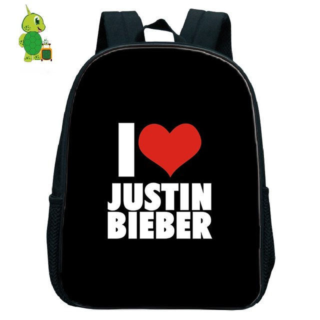 97a6c321a I Love Justin Bieber Backpack Children School Bags Toddler Boys Girls  Primary Kindergarten Backpack Kids Small Bags Fans Gift