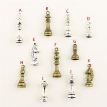 20Pcs Wholesale Bulk Accessories Parts Chess Pawn Mix Pendant Fashion Jewelry Making HK195