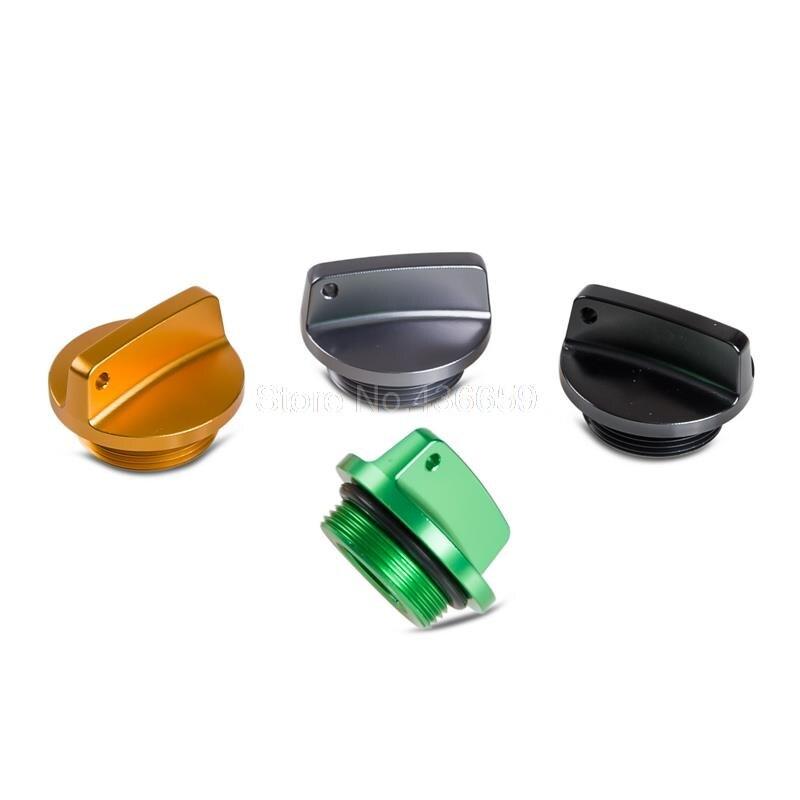 Motorcycles Supplies CNC Aluminum Oil Filler Cap Plug For Kawasaki ZX900 ZZR250 ZZR400 ZZR600 ZZR1100 ZZR1100D ZZR1200 ZZR1400 nicecnc cnc billet oil filler plugs axle