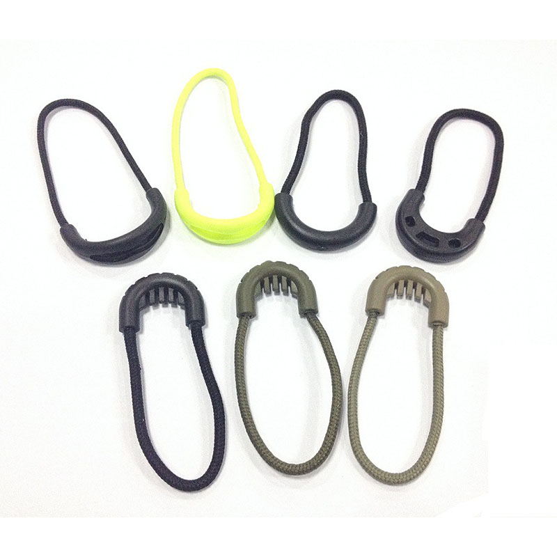 10pcs EDC Camping Anti-theft Zipper Tail Rope Clothing&bags Zipper Rope Outdoor