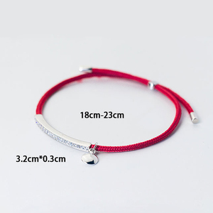 Image 5 - La Monada Red Thread For Hand 925 Sterling Silver Bracelet Red Thread String Rope Bracelets For Women Silver 925 Sterling
