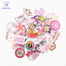 50 pcs/lot PVC Waterproof Pink Girls Fun Sticker Toys The Luggage Stickers For Moto Car & Suitcase Cool Fashion Laptop stickers(China)