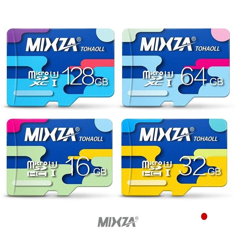 MIXZA Micro SD Card 32GB Class 10 16GB/64GB/128GB Class10 UHS-1 Memory Card Flash Memory Microsd for Smartphone
