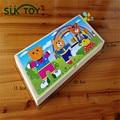 Montessori oso vestido-up conjunto de juguete del cabrito suave tres oso con caja de madera fácil play juego con bebé juguetes educativos tempranos