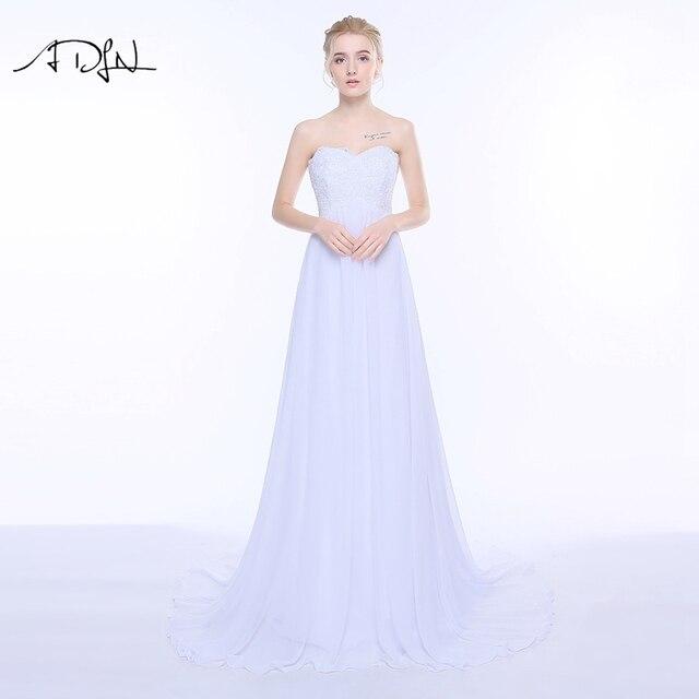 853f43483 ADLN vestidos de novia imperio cariño escote sin Mangas de gasa Vestido de  novia para la