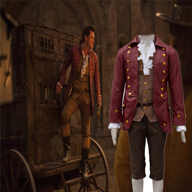 2017 Movie Beauty and the Beast Cosplay Gaston Costumes Anime Party Halloween Carnival Cosplay Apparel  CS375300