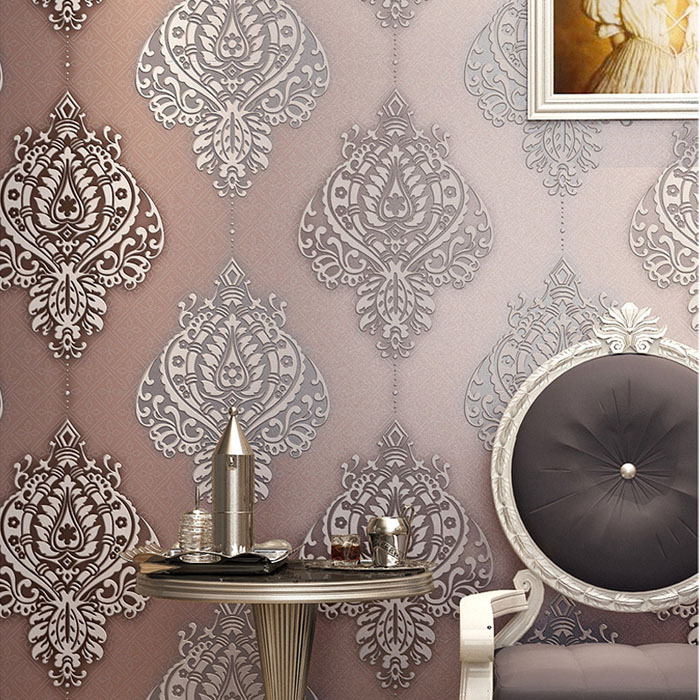 High Quality SoundAbsorb 3D Wallpaper for Walls Suede Wall Paper Home Decor Background Damascus Wallpaper Roll 3d papel parede beibehang papel parede europe damascus 3d stereo embossed wallpaper home decor ecofriendly bedroom non woven wall paper roll
