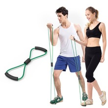 Resistance Training Bands Tube Workout Exercise For Yoga 8 Type Bodybuilding Muscle Expander Developer Fitness Equipment