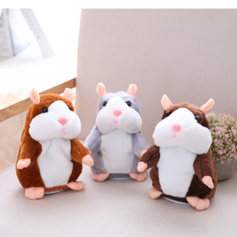 2018 Talking Hamster Mouse Pet Plush Toy Cute Speak Talking Sound Record Hamster Educational Toy for Children Gifts