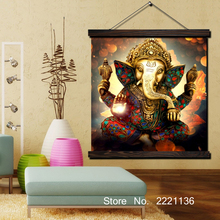 Elephant Trunk God Modular Poster Scroll Paintings Wall Art Printed Hanging Framed Canvas Painting Modern Home Decoration