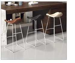 Скандинавское барное кресло креативные современные ровные цилиндры стул передний стол стул повседневное молочный чай кофейня высокий