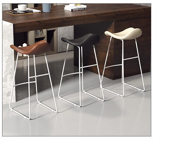 Nordic Bar Chair Creative Modern Simple Bar Stool Front Desk Chair Casual Milk Tea Shop Coffee Shop High Chair