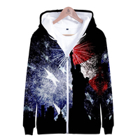 7e05b8ba6 New 3D Print Independence Day Zipper Hoodies Fourth Of July Hoodie July  Fourth Sweatshirts Fashion Casual