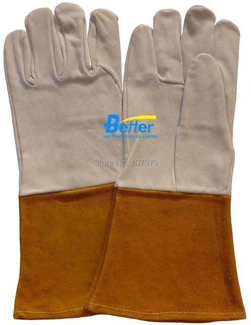 Рабочие перчатки тиг миг сварка перчатки водителя кожа зерно козья кожа тиг миг сварка перчатки
