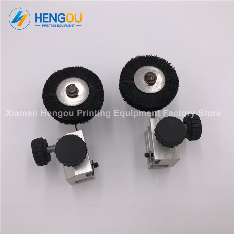 1 Pair free shipping high quality komori printing wheel komori feeder brush wheel