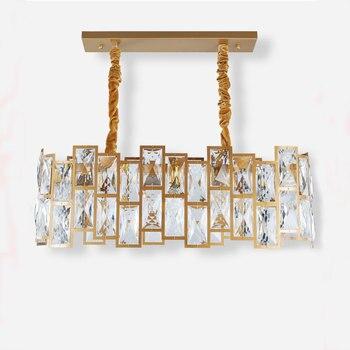 Хрустальная Подвесная лампа, креативная необычная длинная Подвесная лампа, светильник, железная, золотая, окрашенная, декоративное освещен...