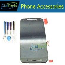 Купить 1 шт./лот для Motorola Moto G2 XT1063 XT1068 XT1069 ЖК-экран + сенсорный экран планшета Ассамблеи с инструментами Black цвет