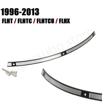 Black Slot Track Stainless Steel Windshield Trim For Harley FLH Batwing 96 13