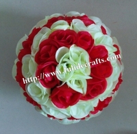 SPR 50cm mix cream white & red plastic inner weddings kissing ball decoration