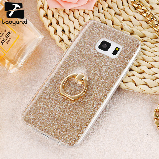 TAOYUNXI Ring Holder Cover TPU Phone Cases For Samsung Galaxy S7 G930F G930FD G930W8 G930 G9300 SM-G930A SM-G930R4 Covers