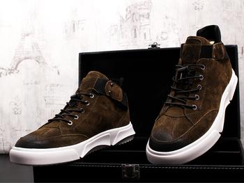 Hot trampki mężczyźni buty w stylu casual męskie buty Hip Hop buty męskie buty za kostkę Retro męskie buty fala oprzyrządowania buty moda buty męskie tanie i dobre opinie Dla dorosłych Przypadkowi buty Mikrofibra Oddychająca Wysokość zwiększenie light Wytrzymałe Antyzapachowej Lace-up