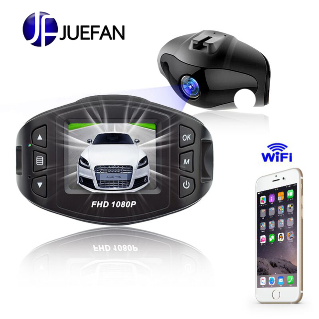JUEFAN Dash Cam Novatek 96658 Car DVR Full HD 1080P WIFI Car Camera Super Night Vision function Quick Reading