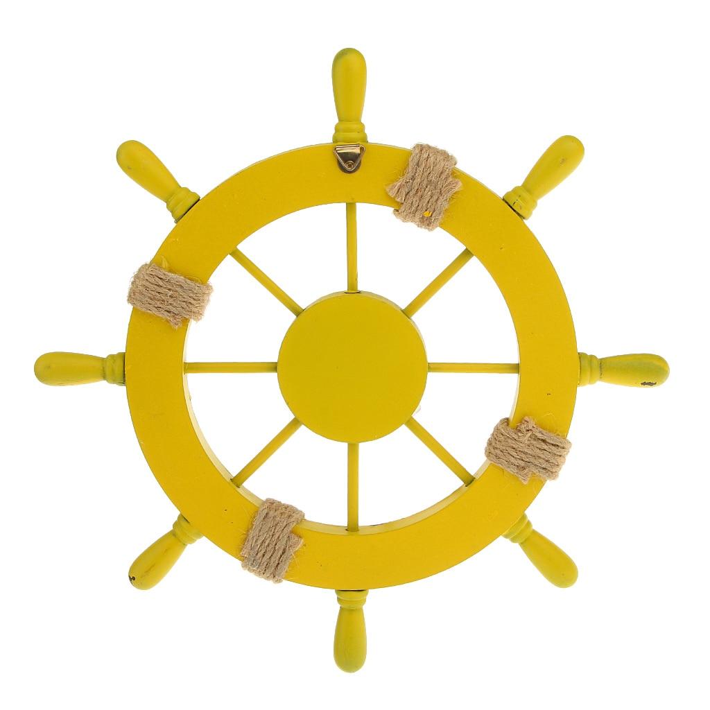 New Hot Nautical Beach Wooden Boat Ship Steering Wheel Home Wall ...