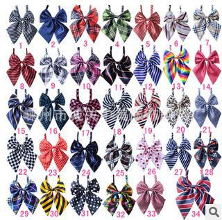 50PC/Lot  New Arrival Colorful Adjustable Pet Dog Neckties Bowties Cat Puppy Dog Bow Ties Pet Grooming Supplies 6 Types  P18