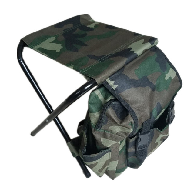 Outdoor Multifunctional Foldable Fishing Chair Backpack Camouflage Bag  Portable Foldable Stool Folding Fishing Chair Backpack