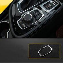 Lsrtw2017 pérola chrome abs engrenagem do carro botão de mídia quadro apara para bmw série 2 F45 F46 2015 2016 2017 2018 2019 218i 220i 216i