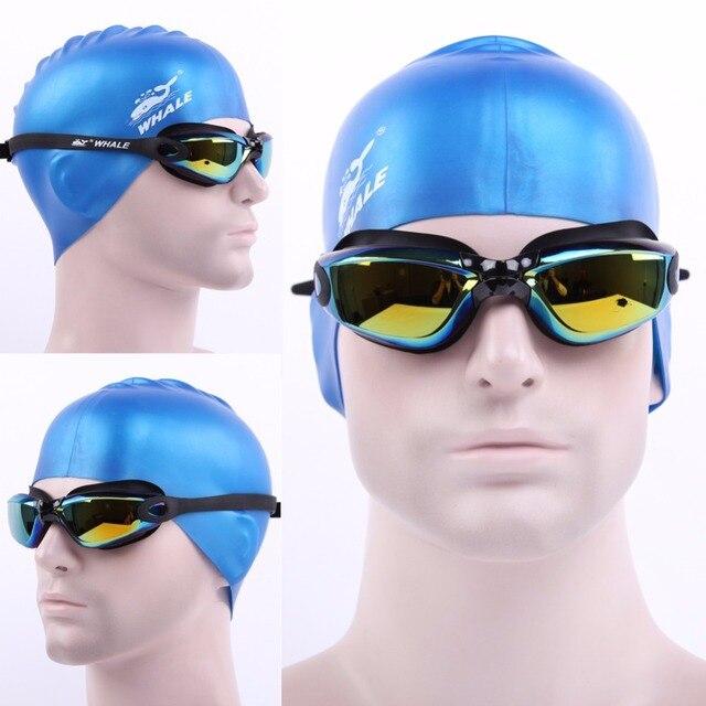 d71c937ba Nova Marca Homens Mulheres Anti Fog Proteção UV Óculos de Natação  Profissional Galvaniza Óculos de Marca