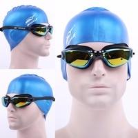 Nowe Marki Mężczyźni Kobiety Anti Fog Ochrona UV Okulary Pływackie Profesjonalne Galwaniczną Wodoodporne Pływać gogle Okulary Marki