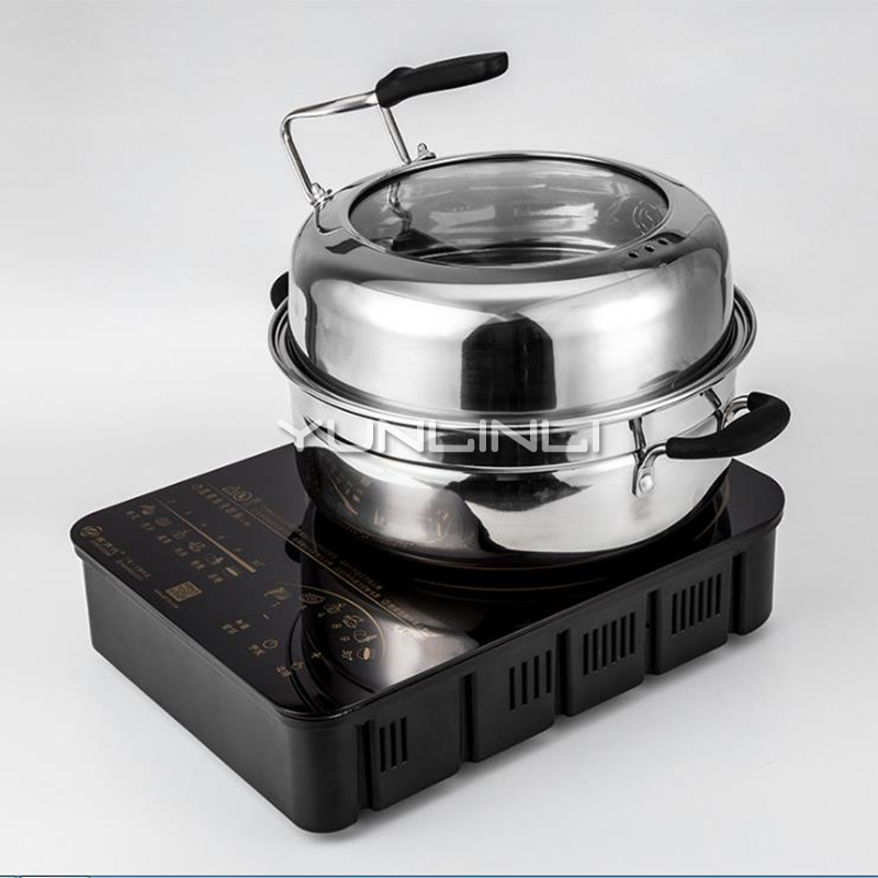 цена на Health Steaming Pot Hot Pot Steaming Machine Seafood Steamer Cooking Pot LX-DZH-200A1